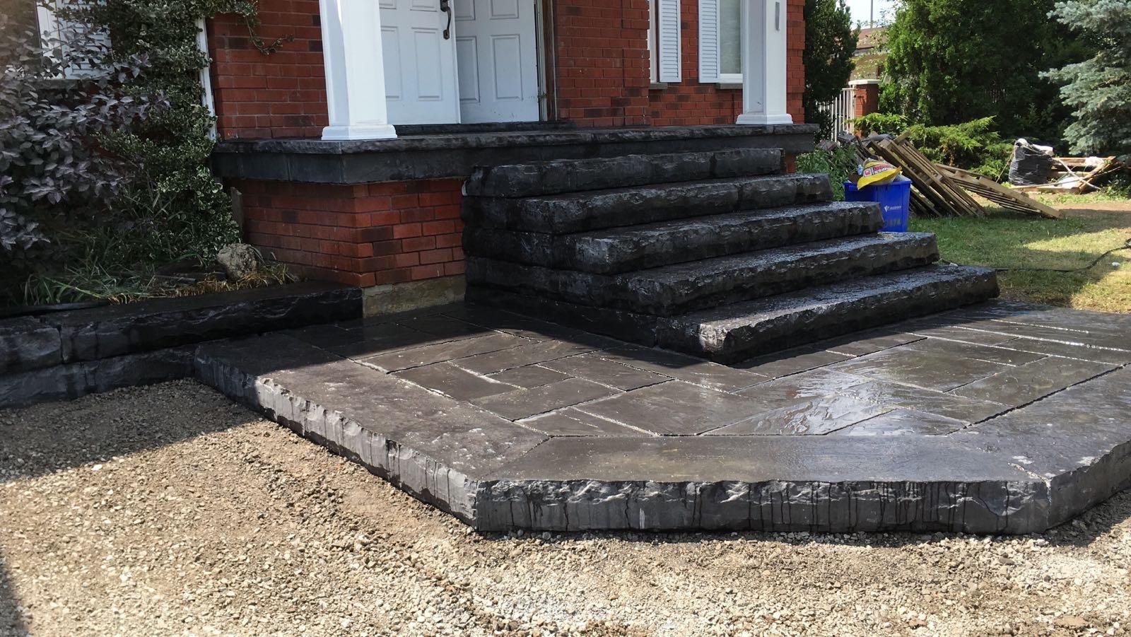 Black Flagstone Steps patio