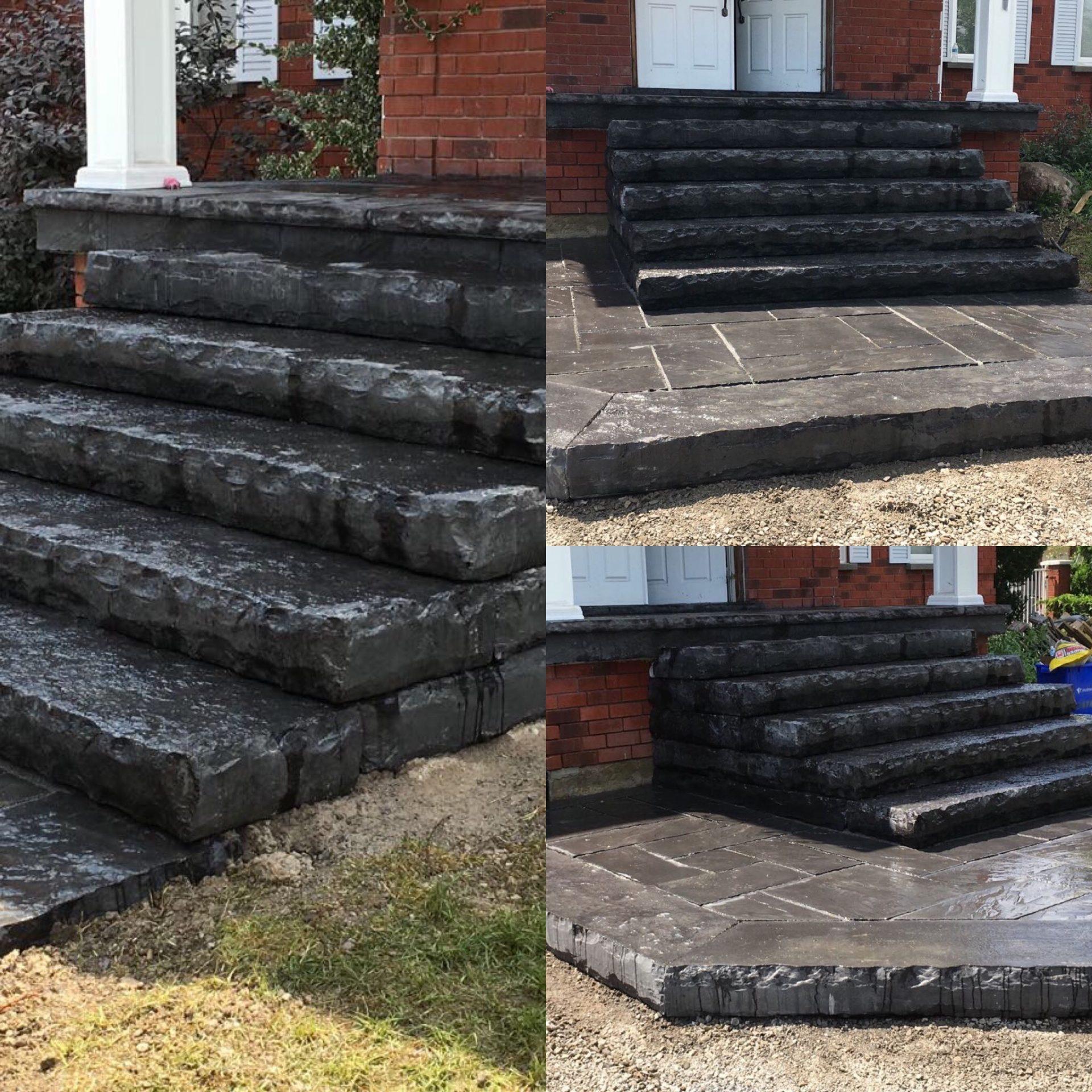 Black Natural Stone Step