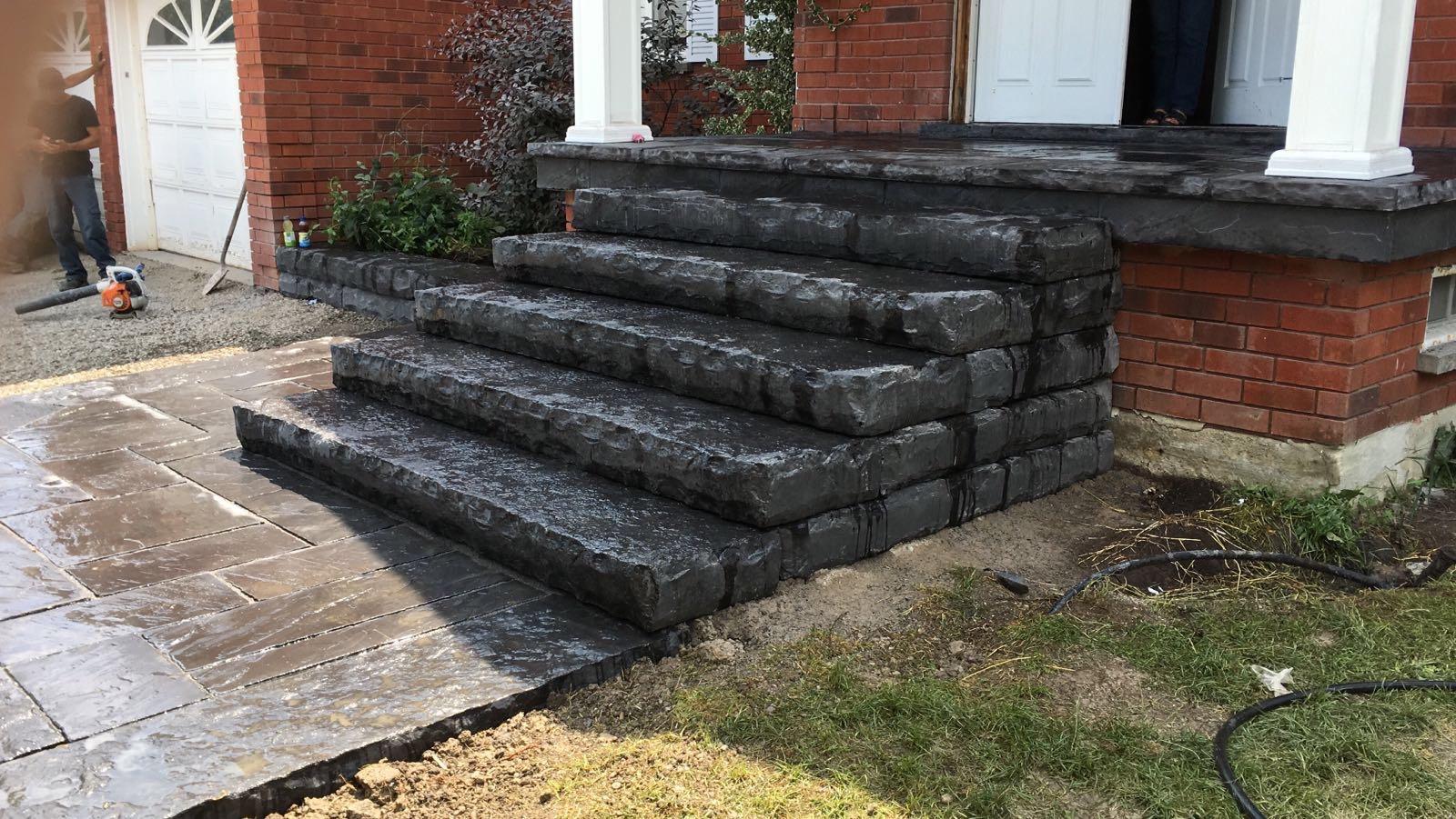 Black Stone Steps