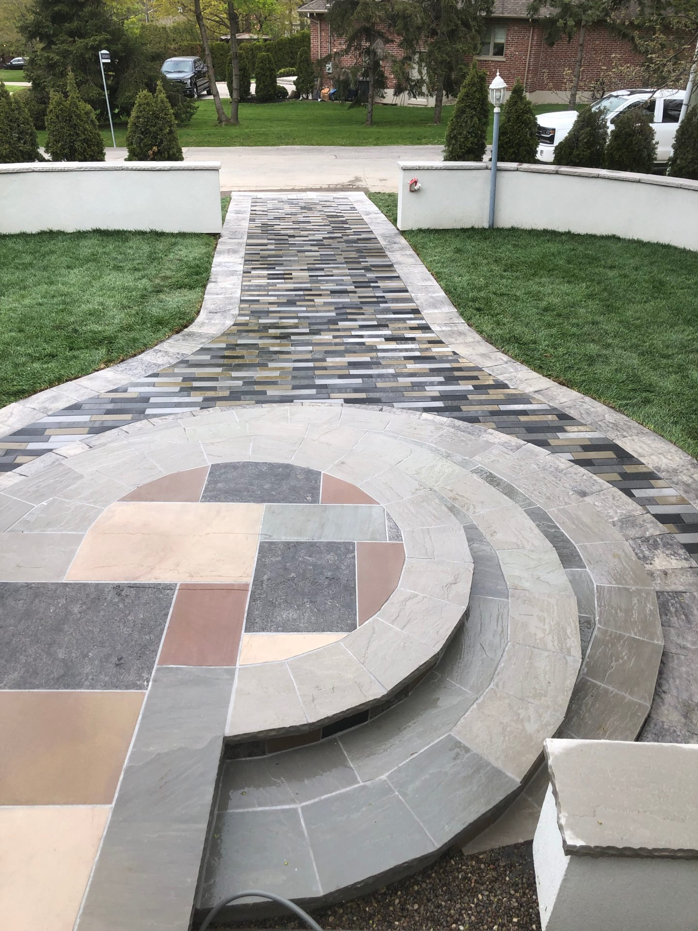 Colored Natural Stone steps