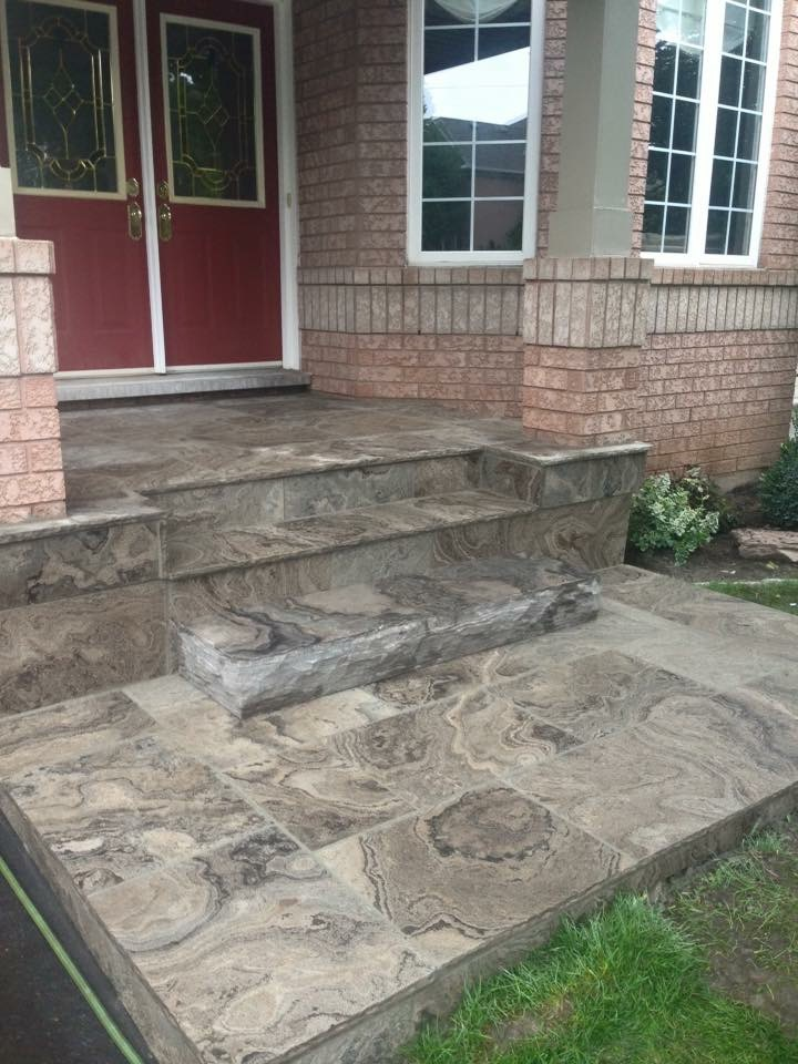 Grey Natural Stone Steps