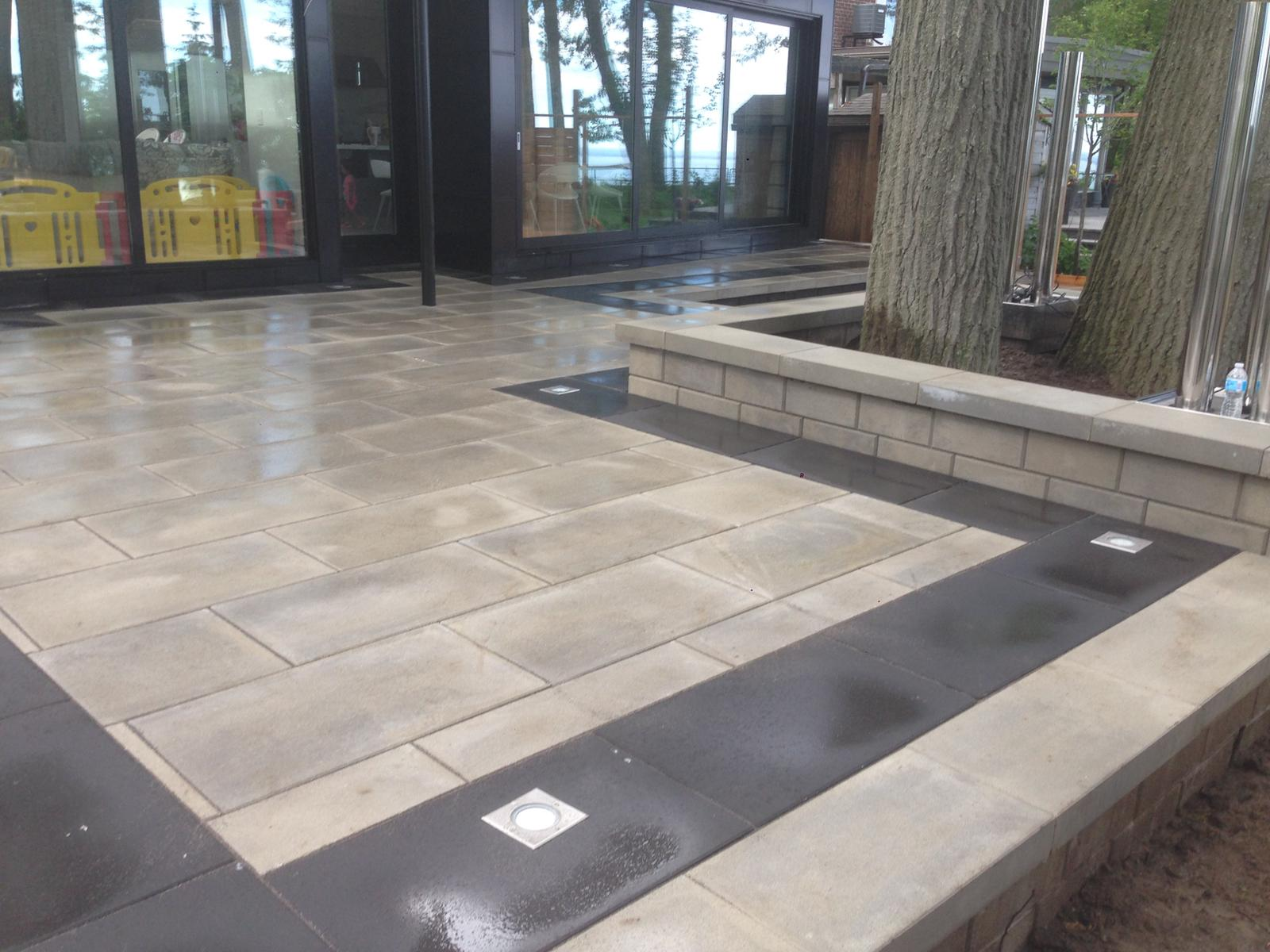 Interlock gray stones