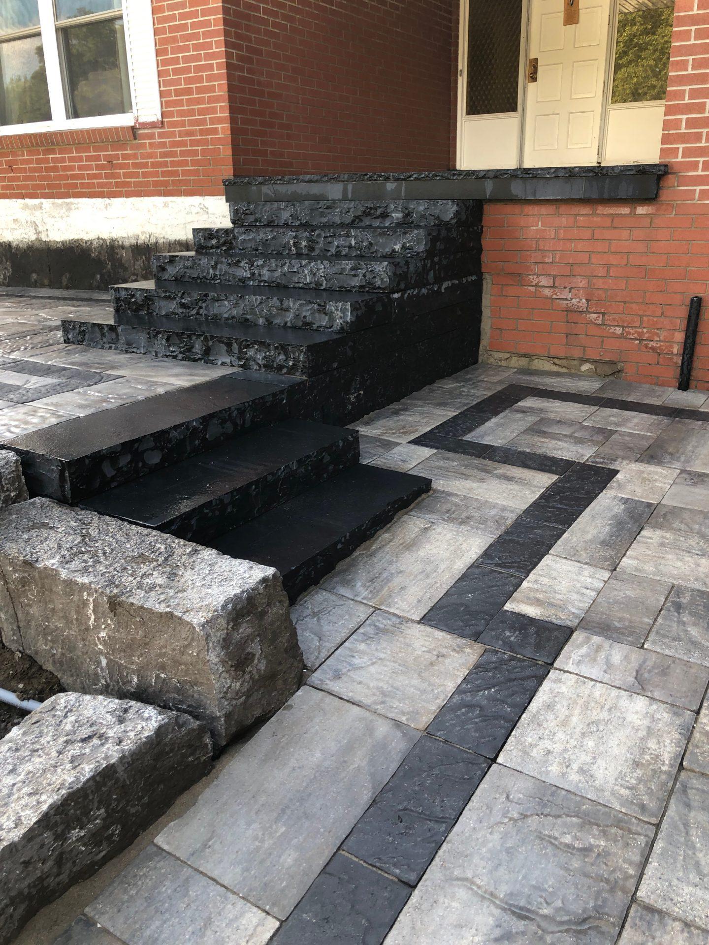 Natural Back Stone Steps
