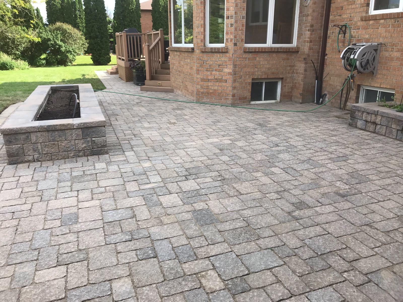 interlocking grey patio
