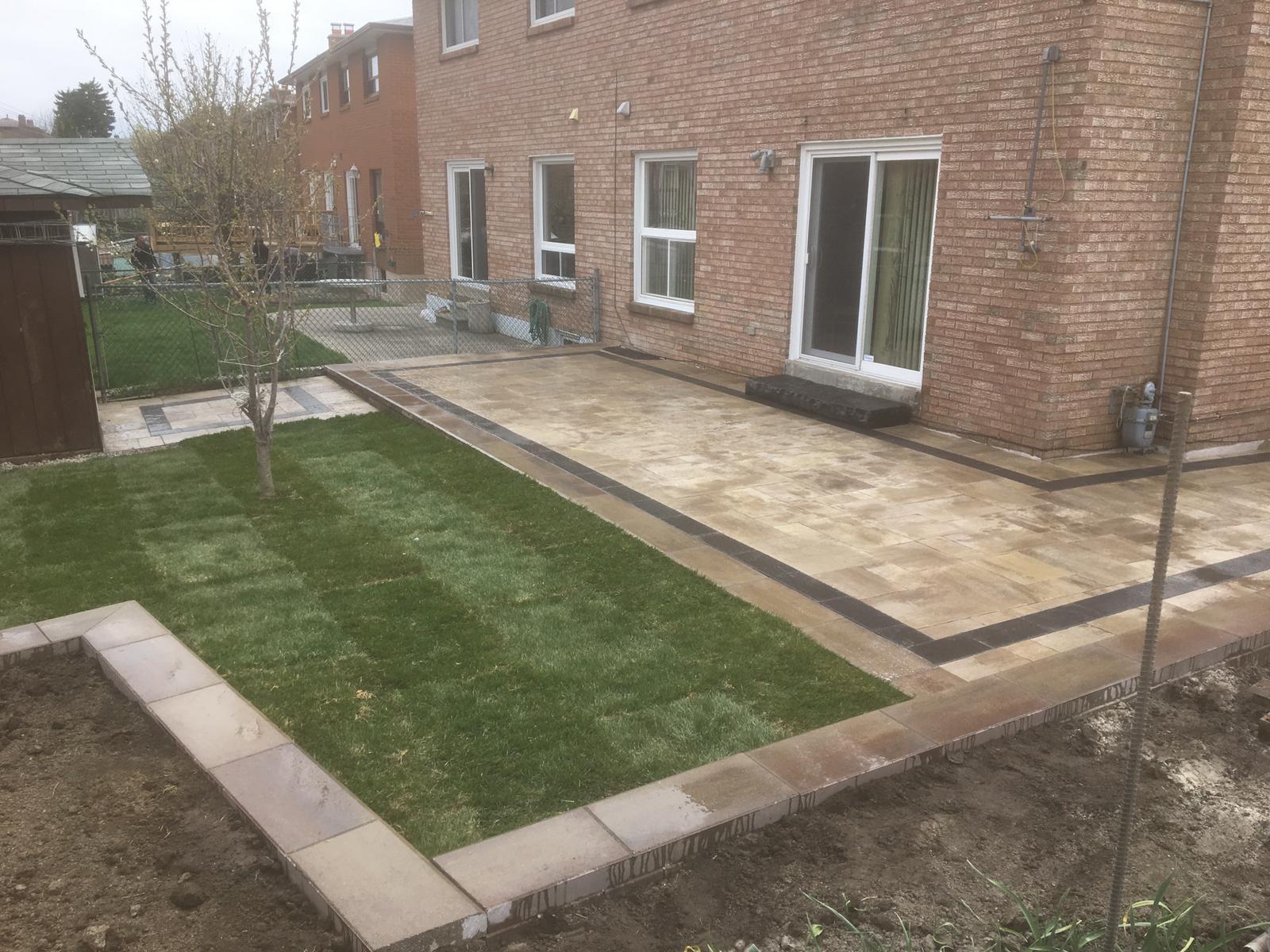 interlocking patio garden