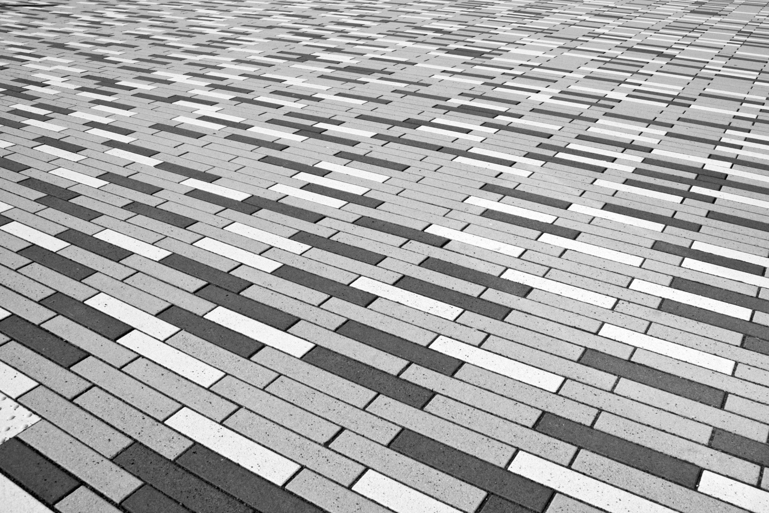 grey and white interlocking bricks