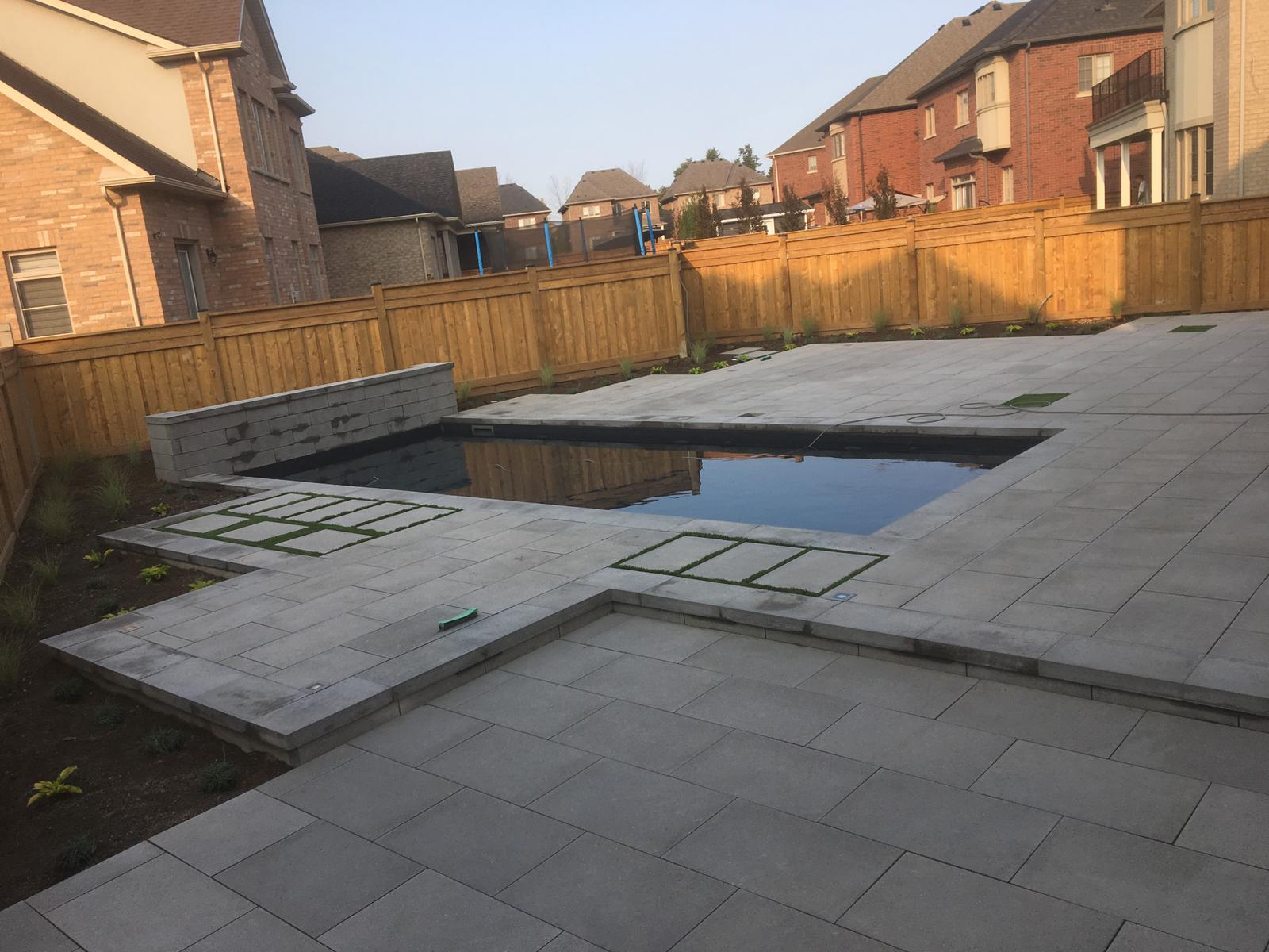 Natural stone patio in Toronto