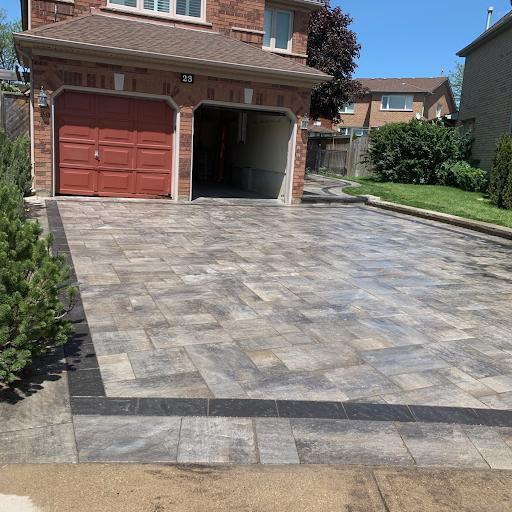 Interlock versus Natural Stones versus a Concrete Walkway
